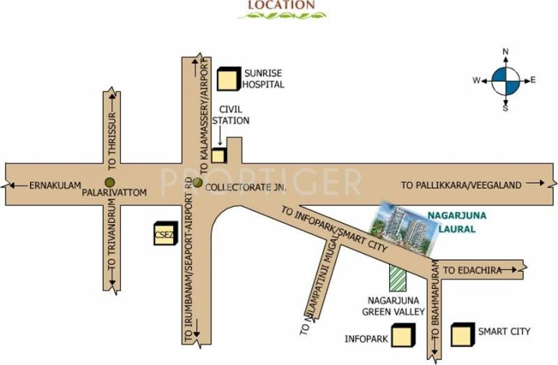 Images for Location Plan of NCC Urban Nagarjuna Laurel