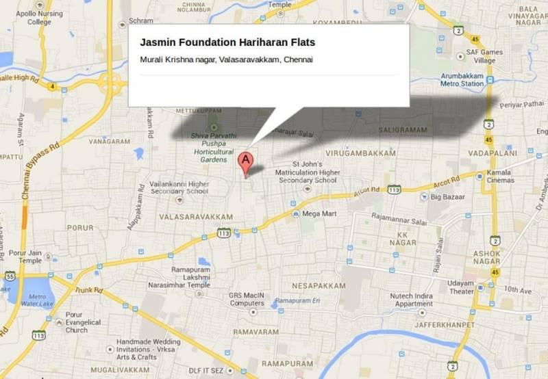 Jasmine Foundation Hariharan Flats Location Plan