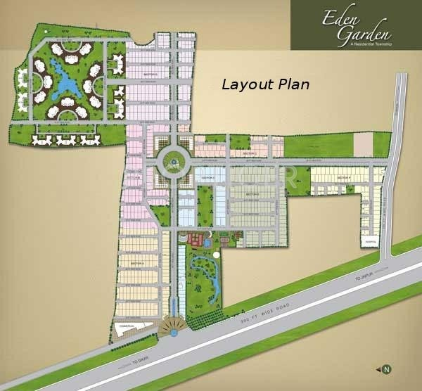 1881 sq ft plot for sale in ghp group eden garden plots for Layout garden plots