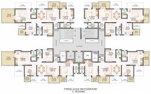 2 3 Bhk Cluster Plan Image Polite Group Bhalchandra Vihar For Sale At Ravet Pune Proptiger Com
