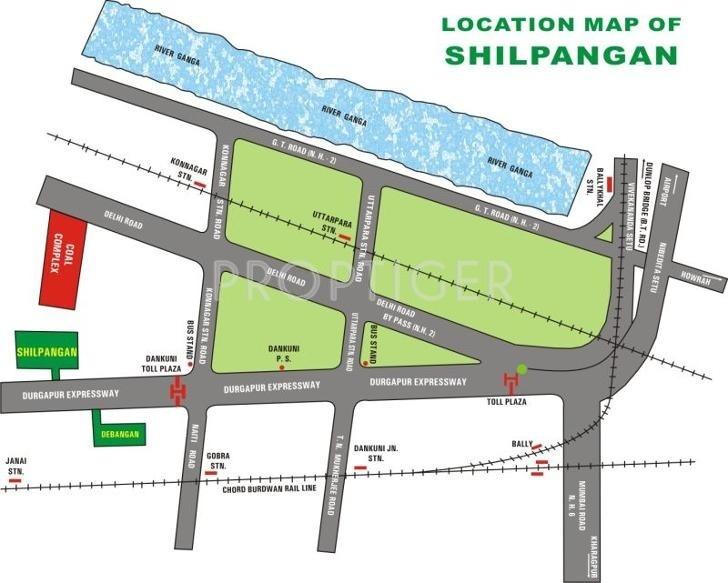 Unnayan Group Shilpangan Location Plan