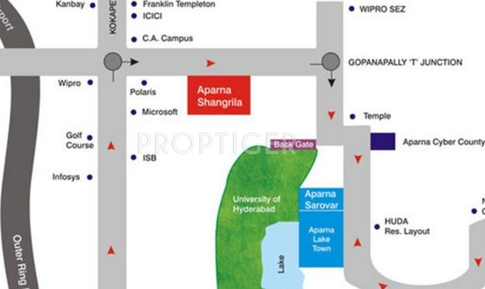 Images for Location Plan of Aparna Constructions Shangri La
