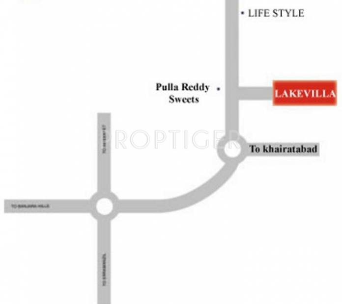 Images for Location Plan of Aparna Constructions Lake Villa