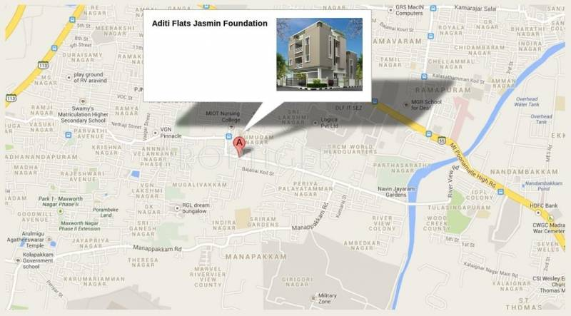 Jasmine Foundation Aditi Flats Location Plan