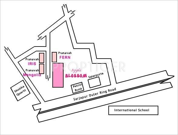 Pranavah Fern Location Plan
