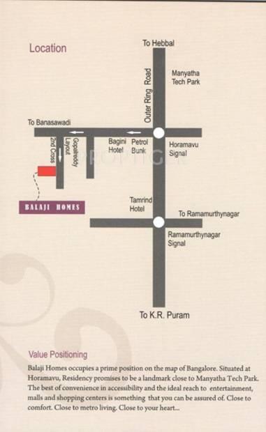 Winning Edge Group Balaji Homes Location Plan