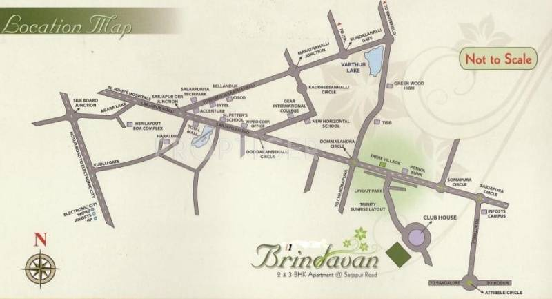 i1 Properties Brindavan Location Plan