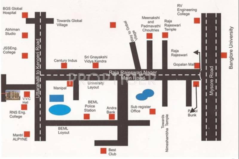 i1 Properties Amarachandra Pranav Location Plan