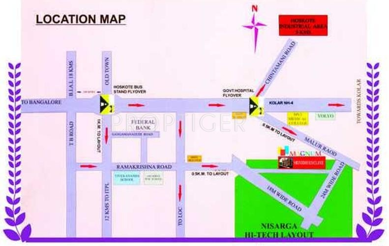 Magnum Developers Srinidhi Location Plan