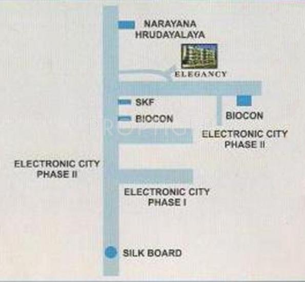 Magnum Developers Elegancy Location Plan