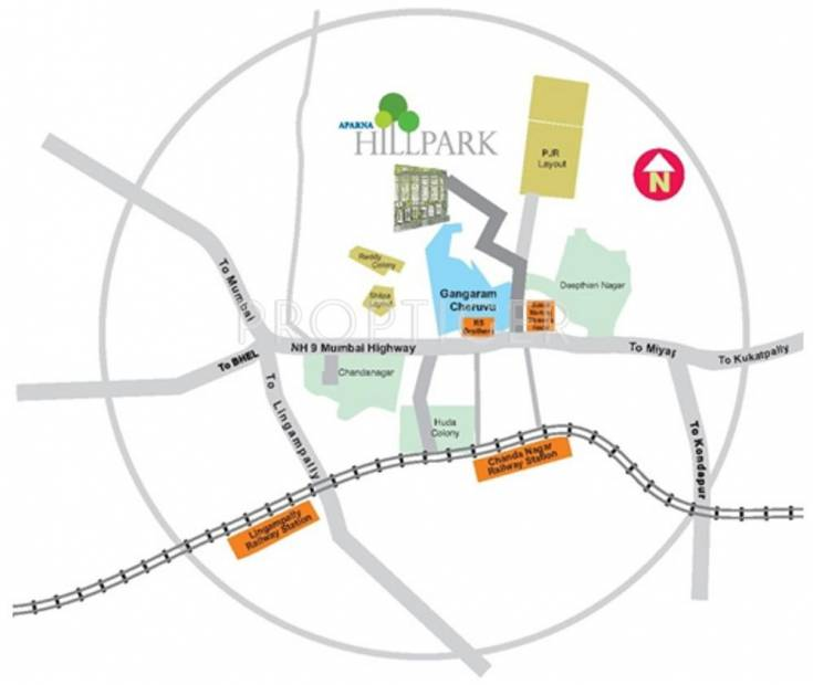 Images for Location Plan of Aparna Constructions HillPark Boulevard