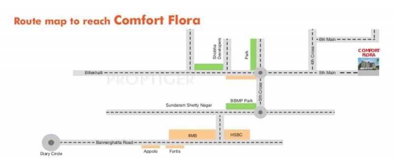 flora Images for Location Plan of Comfort Flora