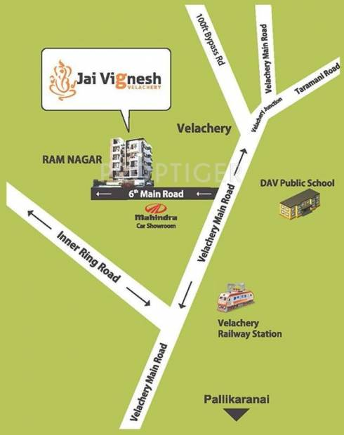 Images for Location Plan of Rams Builders Jai Vignesh