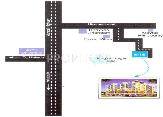 Maruti Construction Company Sai Vardhini Residency Location Plan