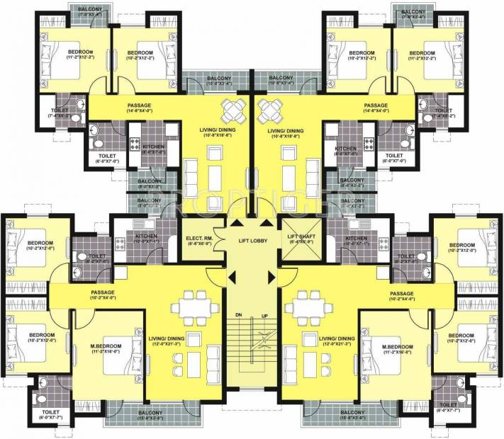 Images for Cluster Plan of Unitech Unihomes 2