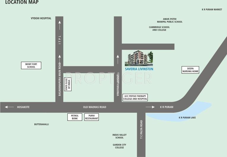 Saveria Livinston Location Plan