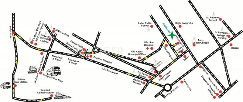K N Infra Projects Pvt Ltd Rambagh Location Plan