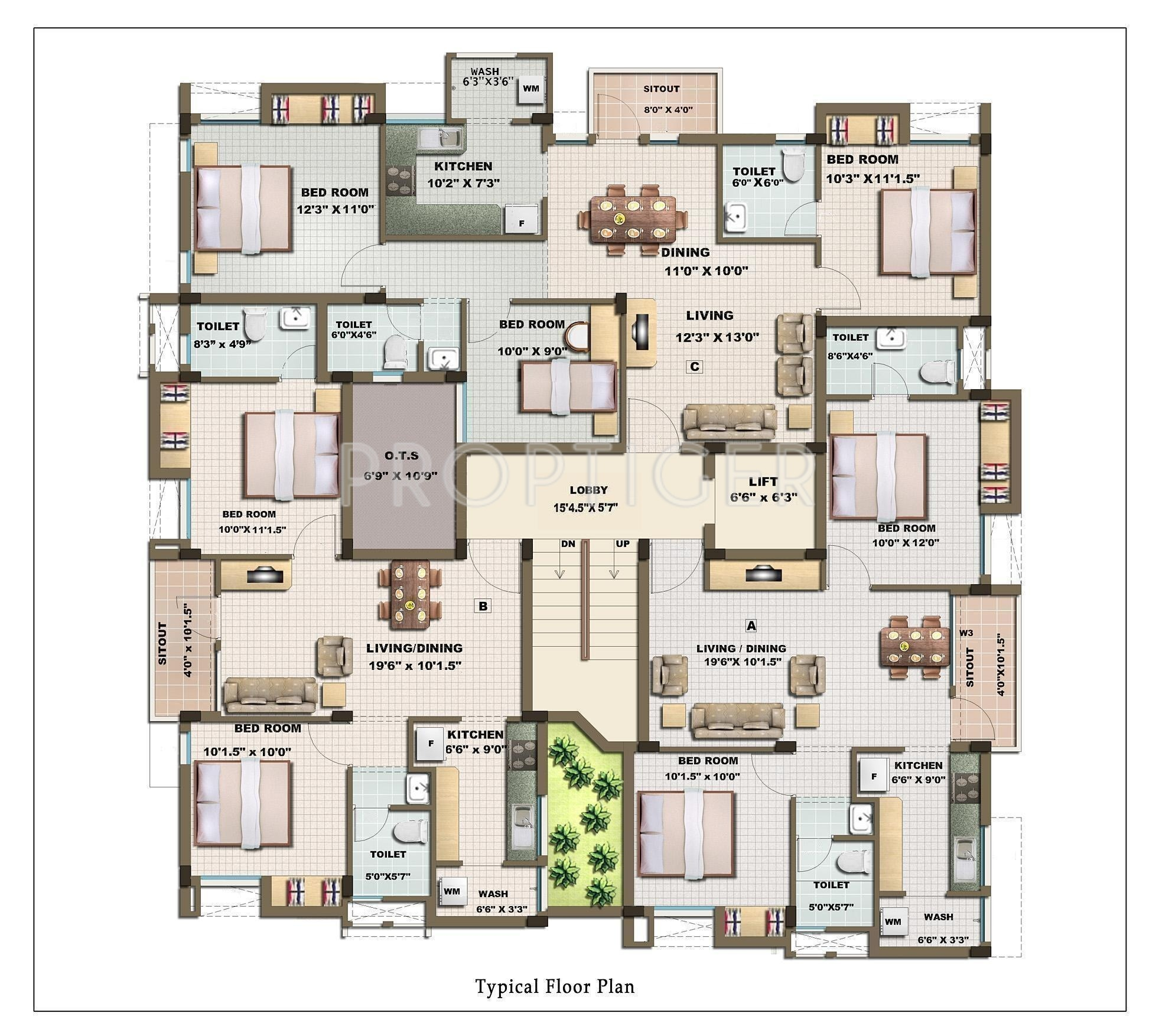901 sq ft 2 bhk 2t apartment for sale in casagrand builder for Apartment plans for sale
