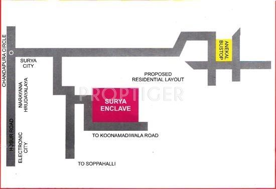 ESCON Developers Surya Enclave Location Plan
