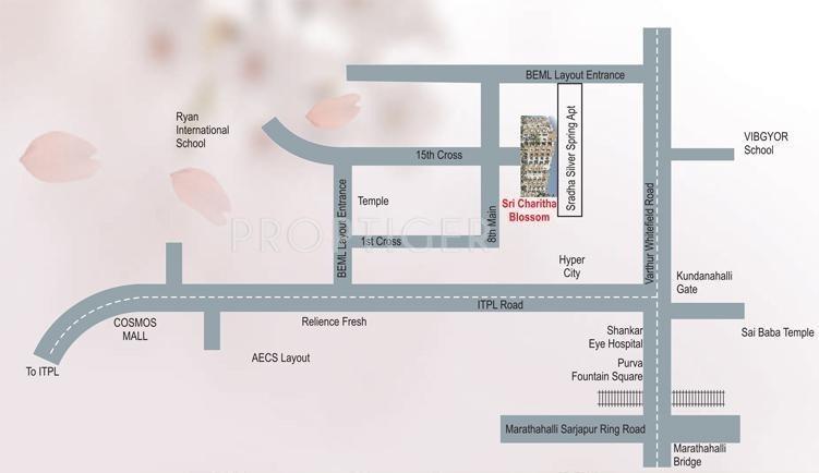 blossom Location Plan