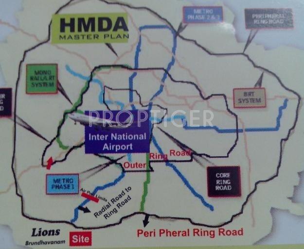 Images for Location Plan of MSR Brundavanam
