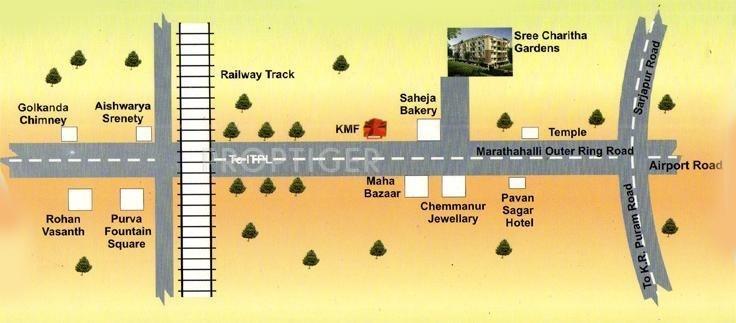 Sri Charitha Developers Gardens Location Plan