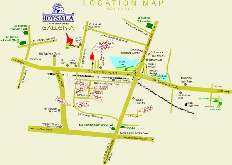 Images for Location Plan of Hoysala Commanders Galleria II