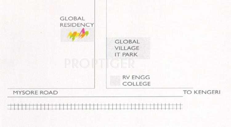 Akash Homes Global Residency Location Plan