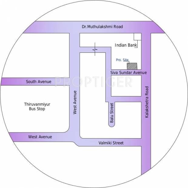 Gayatri Realities Park View Location Plan