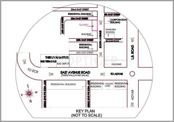 Images for Location Plan of Ramaniyam Real Estates Gatsby