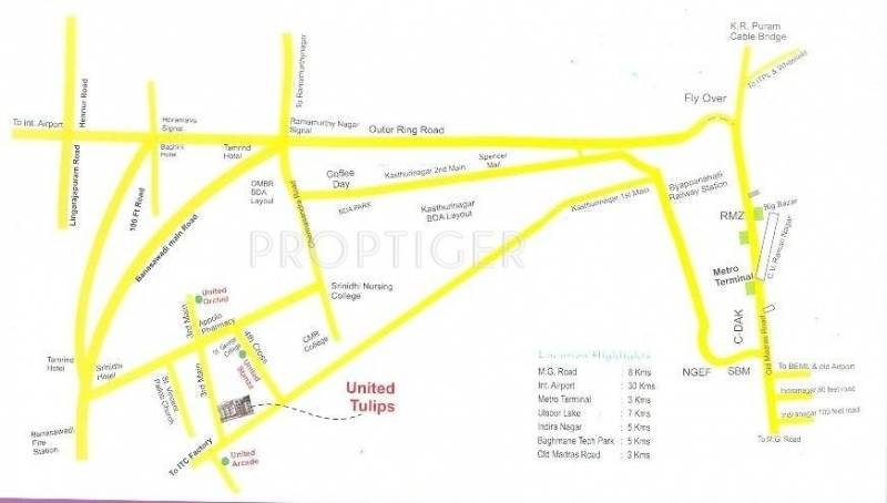 United Homes Tulips Location Plan