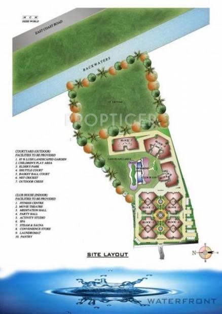 waterfront Images for Layout Plan of Ramaniyam Waterfront