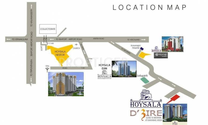 Images for Location Plan of Hoysala Hoysala Evm