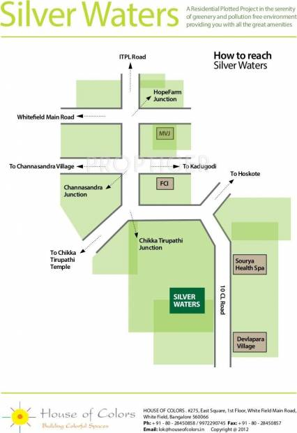 House of Colors Silver waters Location Plan