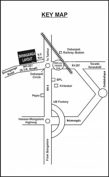 Unnathi Developers Shivaganga Garden Location Plan