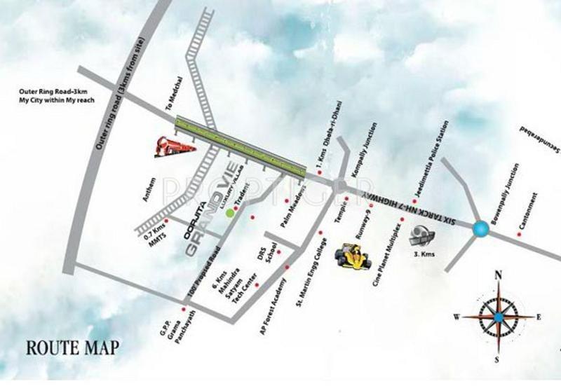 Oorjita Builders Grand Vie Location Plan