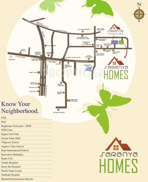 Images for Location Plan of Saranya Homes
