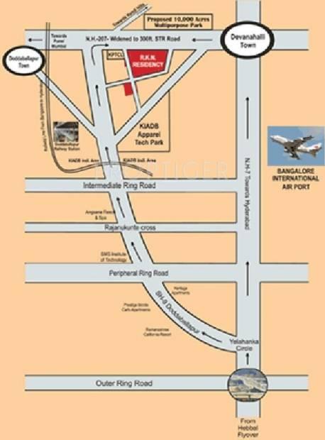 Unnathi Developers RKN Residency Location Plan