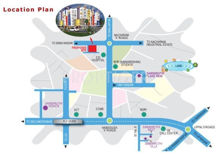 Images for Location Plan of Samskruthi Foundations Samskruthi Prangan