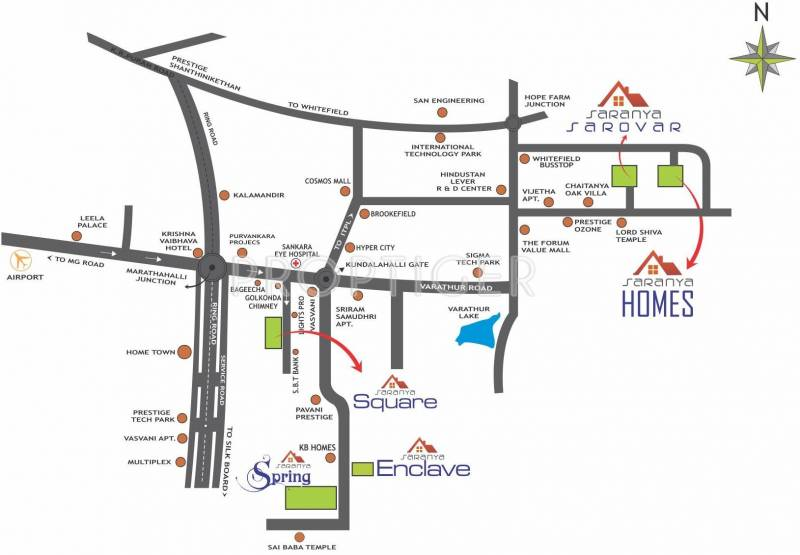 gokulam Images for Location Plan of Saranya Gokulam