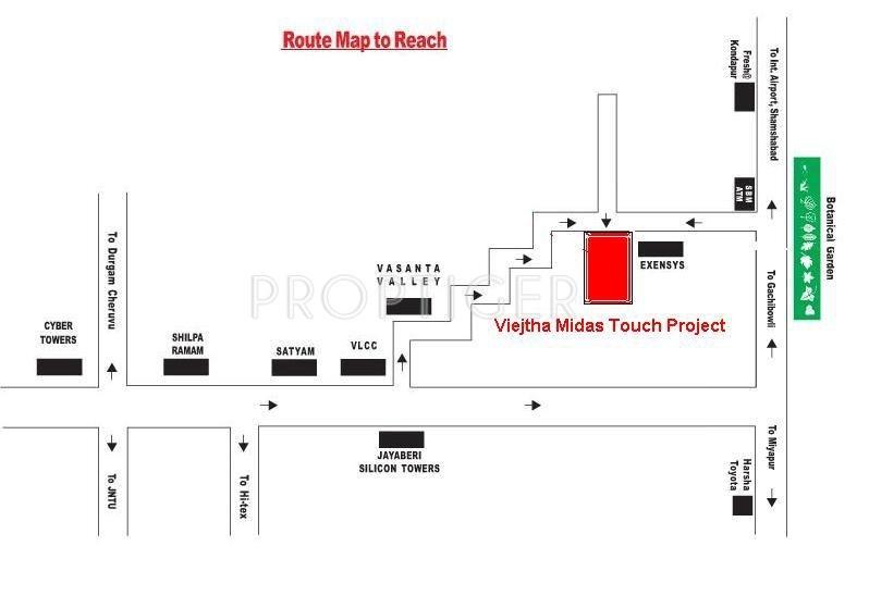 vijetha-midas Location Plan