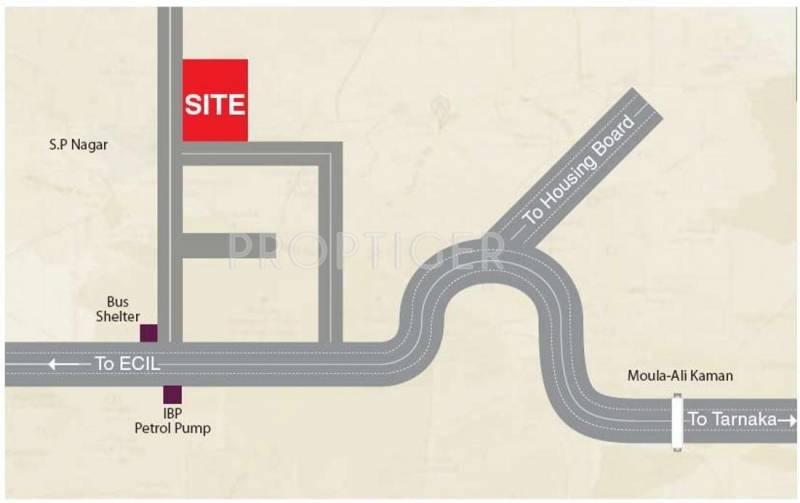 Travancore Constructions Vijayas Thrayambakam Location Plan