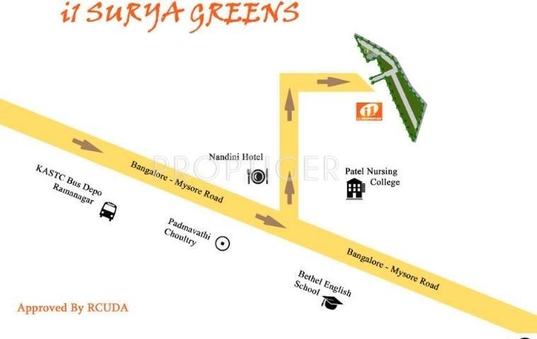 i1 Properties Surya Greens Location Plan