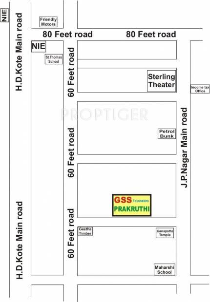 Images for Location Plan of GSS Prakruthi