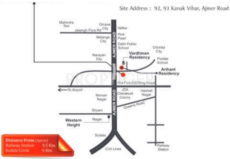 enclave Images for Location Plan of Arihant Enclave
