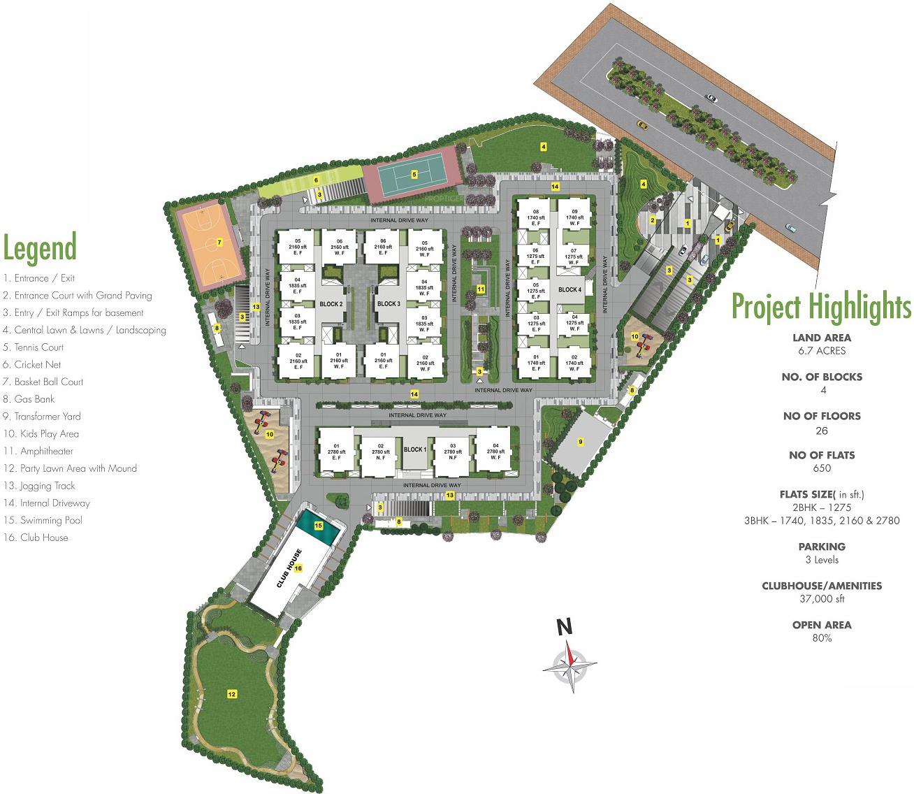 My Home Krishe in Gachibowli, Hyderabad - Price, Location Map, Floor ...