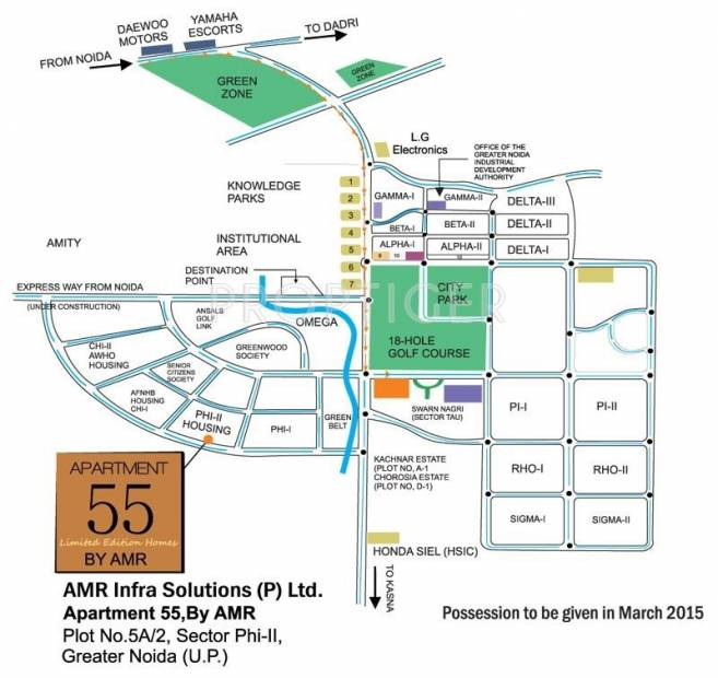AMR Infrastructures Apartment 55 Location Plan