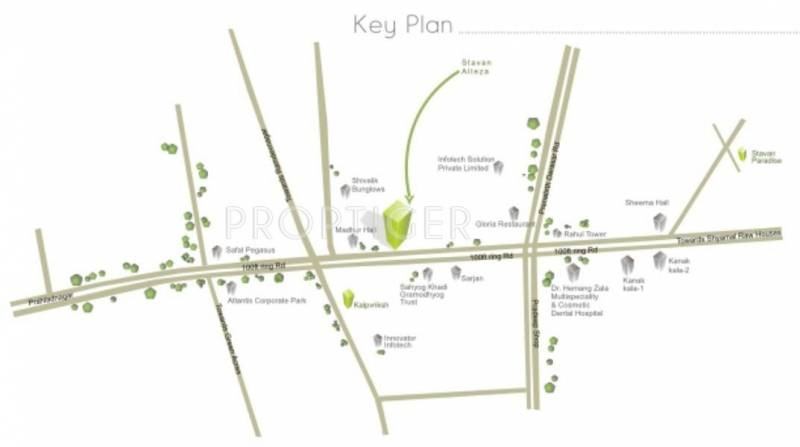 Images for Location Plan of Sambhav Infrastructure Stavan Alteza