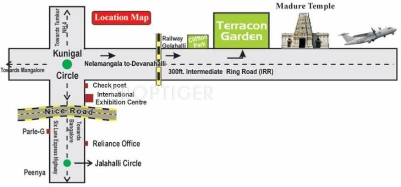 Terracon Projects Gardens Location Plan