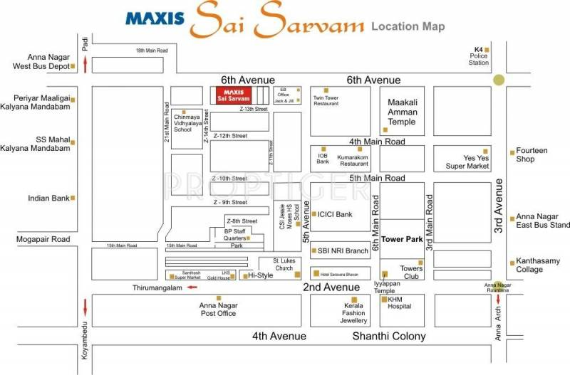 Images for Location Plan of Maxis Sai Sarvam
